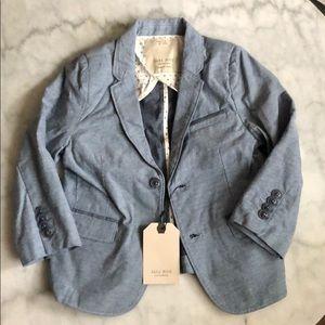 ZARA boys Blue blazer size 4